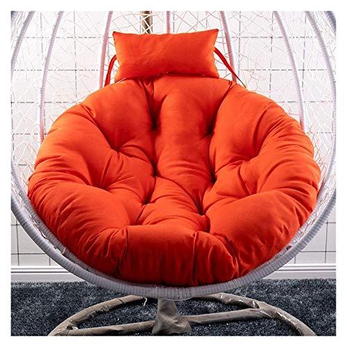 HLZY Cojines de exterior para sillas de patio colgante de silla de huevo, hamaca de mimbre y cubierta de mimbre para interiores o exteriores, buen regalo para la cubierta (color: naranja)