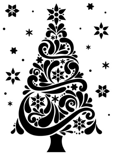 Darice DAR_1218-118 Embossing Folder, Tree, 4.25 x 5.75 Inches, Template for Adding Texture and Dimension to Scrapbook Pages, Christmas Cards and Other Papercraft Projects, Plastic, Transparent