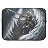 Ysikfk 13-15 Inch Laptop Case Sleeve with The Angel Knight with Majestic Wings Printing Design Fits Laptop, Tablet