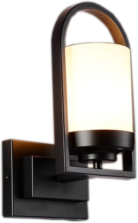 Wandleuchte Creative schwarz American Minimalist im Hotel WC Spiegel am Ende der Wand Nachttischlampe Lampe (Farbe   -, Gre   -)