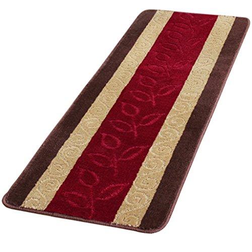 Moquettes tapis et sous-tapis Tapis Simple longue bande anti-dérapant tapis résistant à l'huile cuisine tapis chambre porte tapis de bain absorbant tapis rouge Les tapis (Size : 45 * 120cm)