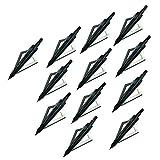 WEREWOLVES Pack de 12 têtes de flèche Arrow 3 Lames Tir à l'arc Arrow Heads Tips 100...
