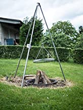 Edelstahl Dreibein Schwenkgrill von Schwenkgrill-abc mit Grillrost ab 50cm mit Grillrost 60 cm