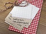 50 x Aufkleber Etiketten hausgemacht für Hausgemachtes Selbstgemachtes zum Beschriften Retro-Design
