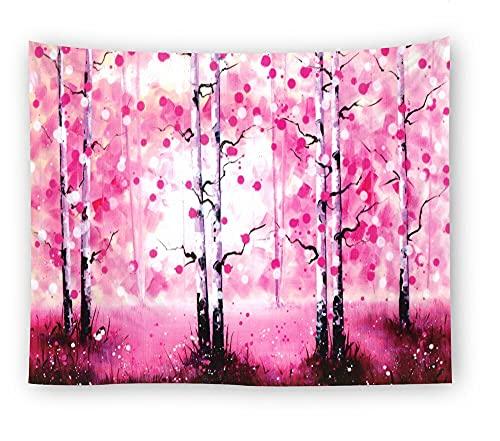 KHKJ Tapiz de Bosque brumoso cabecero de Pared Arte Colcha Dormitorio Tapiz para Sala de Estar Dormitorio HomeDecor A6 200x150cm
