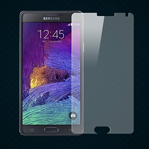 Galaxy Note 4 Screen Protector - Bear Motion Premium Tempered Glass Screen Protector for Galaxy Note 4 (Due to the limitation of tempered glass material, only the flat areas are covered. See Original Untouched Picture (2nd one) for the Actual Result on Real Phone)