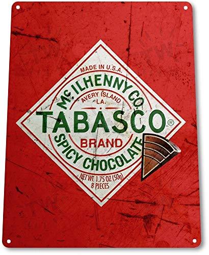 TIN SIGN B469 Tabasco Kruidige Chocolade Keuken Cottage Hot Saus Chocolade Teken Decor Metalen Tin Teken 8X12 Inch