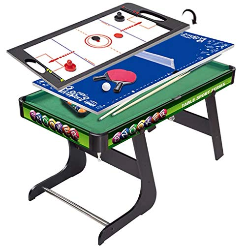 YGO Combo Game Table Multi Game Table Set 3 in 1 Indoor Entertainment Table 49' with Pool Table Table Tennis Slide Hockey for Kids and...