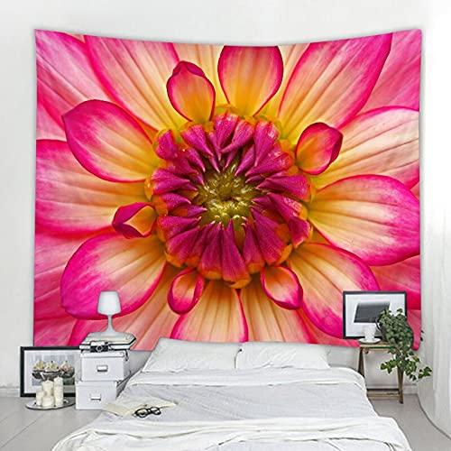 Tapiz de flores con flores nórdicas, tapiz de mandala Art Deco bohemio, manta para colgar, tela para colgar A6, 180x230cm