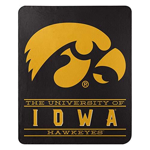 Northwest NCAA Iowa Hawkeyes 50x60 Fleece Control DesignBlanket, Team Colors, One Size