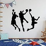yaonuli Autocollant de Basket-Ball Art Design Chambre décoration Murale 74x74 cm