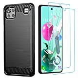 LG K92 5G Case with HD Screen Protector, HNHYGETE Soft Slim