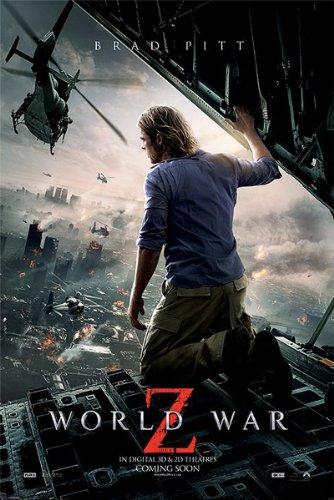 Poster World War Z Brad Pitt (61cm x 91,5cm) + un poster surprise en cadeau!
