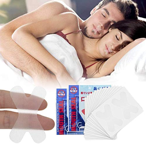 Topffy Sleep Strips,Anti Snoring Devices Advanced Mouth Tape for Sleeping 60 Pcs Stop Snoring Mouth Tape for Better Nose Breathing Sleep Aids Snoring Solution Mouth Sleep Strips for Snoring Reduction