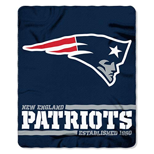 THE NORTHWEST COMPANY Offizielle NFL New England Patriots Decke, Fleecedecke in 127 x 152 cm