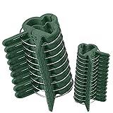 Clip de jardín 60 pcs - Mopalwin Planta de jardín & flor clips reutilizable jardín planta, verduras y flores, patio apoyo clips de fijación, para plantas tallos Grow Vertical (30 pequeñas+30 grandes)