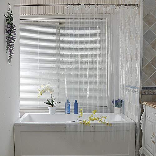 NIBESSER Duschvorhang Transparent Anti-Schimmel Shower Curtains Duschvorhänge Anti-Schimmel Badevorhang Wasserdichter Badezimmervorhang Duschspinne Duschfaltkabine 180x200(Transparent,90 × 200cm)