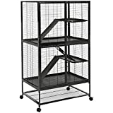 AmazonBasics Small Animal Metal Pet Cage with Wheels, Two-Story (63-Inch)