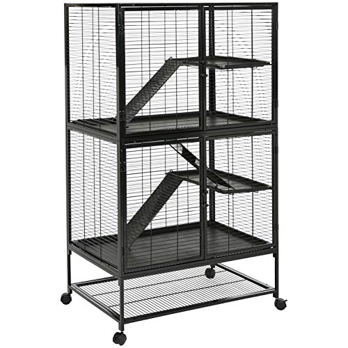 Amazon Basics Small Animal Metal Pet Cage with...