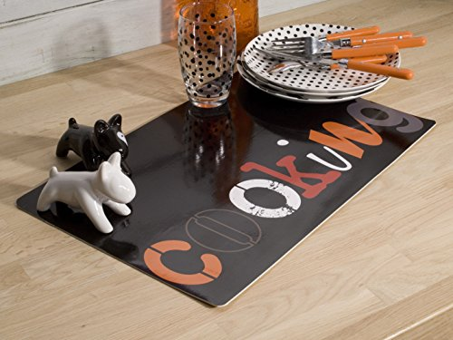 CALITEX Cooking, PVC, Noir, 44x28 cm