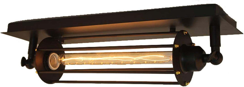 HXDD yan Long Home Deckenleuchten, American Village Bar Coffee Shop Balkon Treppen Lichter Retro Industrial Wind Eisen Flte Deckenleuchte E27 Lichtquelle Beleuchtung LED-Licht Deckenleuchte