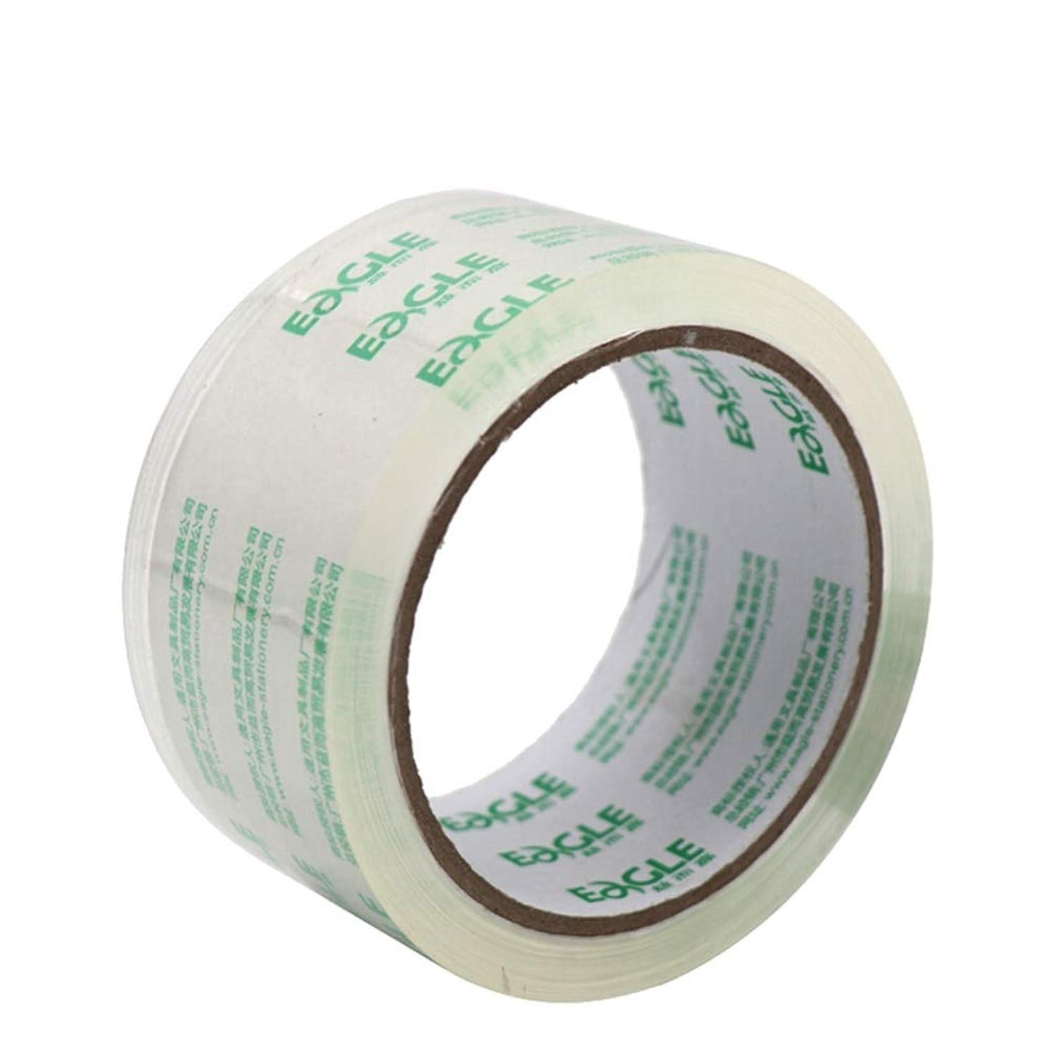 コーラス処理幻滅する倉庫パッキングテープ、オフィス文具に適した シールテープ、高い透明性、ワイド粘着性ではなく、ブレイクへの容易なの6つのロール、