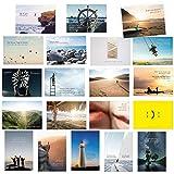 20er Postkarten Set zum Thema MOTIVATION mit Sprüchen und