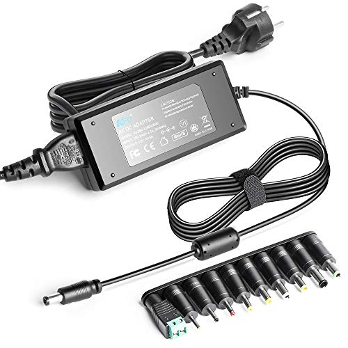 KFD Cargador Universal 12V 5A Transformador Adaptador Fuente de Alimentación para Tira luz LED MAX 60W, Router, LCD TFT Monitores, portátils, Cámara, Discos Duros Adapter con 10 Enchufes Diferentes
