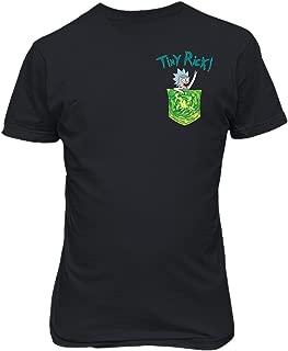 KING THREADS Rick and Morthy Picke Tiny Rick Pocket Shirt TV Funny Mens T-Shirt