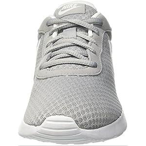 Nike Womens Tanjun Running Sneaker Wolf Grey/White 8