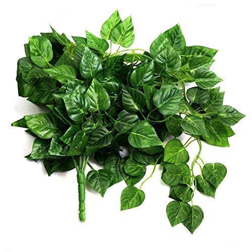 HugeStore 90cm Kunstpflanze Künstliche Weinrebe Blätter Künstlicher Efeu Hänger Efeugirlande Pflanze Deko 3 Stück - 2
