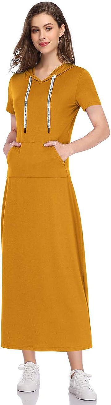 Max 69% OFF GloryStar Women Long Sleeve Pullover Spring new work Pocket Hoodie Dress Stripe