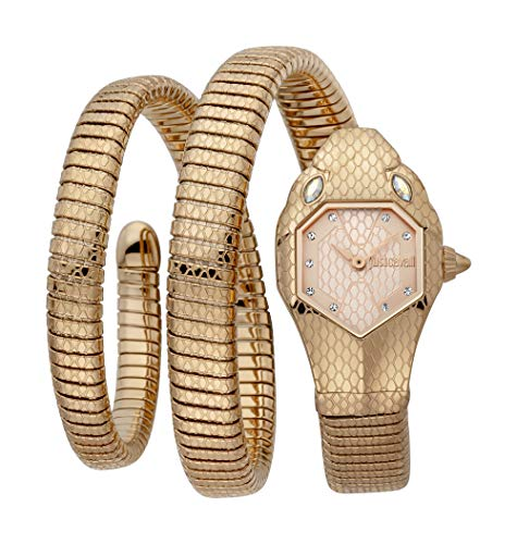 Reloj Just Cavalli Glam Chic Snake JC1L168M0055 - Analógico Cuarzo para Mujer en Acero Inoxidable Chapado