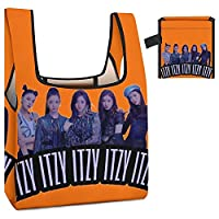 ITZY エコバッグ 折りたたみ 人気 おしゃれ ショッピングバッグ 大容量 買い物袋 コンパクトバッグ 軽量 レジバッグ マイバッグ 防水 肩から提げれる 洗える