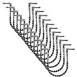 """Neewer 12pz Cavo Patch per Chitarra 30cm con Connettori 1/4"""" a Angolo Retto, Rivestimento in Tessuto di Tweed Nero & Bianco, Perfetto per Suonare Strumenti Musicali"""