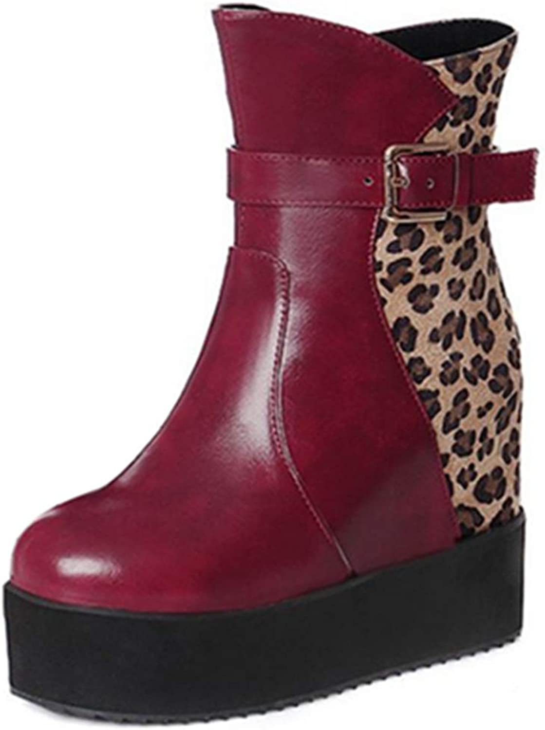 Smilice Women Ankle Wedge Booties