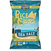 Lundberg Rice Chips, Sea Salt, 6oz (12 Count), Gluten-Free, Vegan, Kosher, Non-GMO Verified, Whole Grain Brown Rice