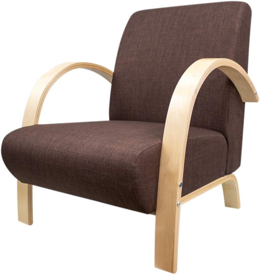Beige//Couleur Sable CADENTRO Fauteuil Design en avec Structure en Bois