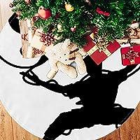 ツリースカート クリスマスツリースカート 太極拳 陰陽 白黒 ホリデーデコレーション メリイクリスマス飾り 下敷物 可愛い 雰囲気 クリスマスパーティー 直径107cm