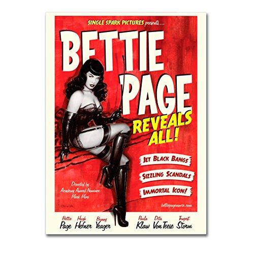 LaMAGLIERIA Poster Bettie Page - Posterdruck glänzend laminiert - Format, 70cmx100cm