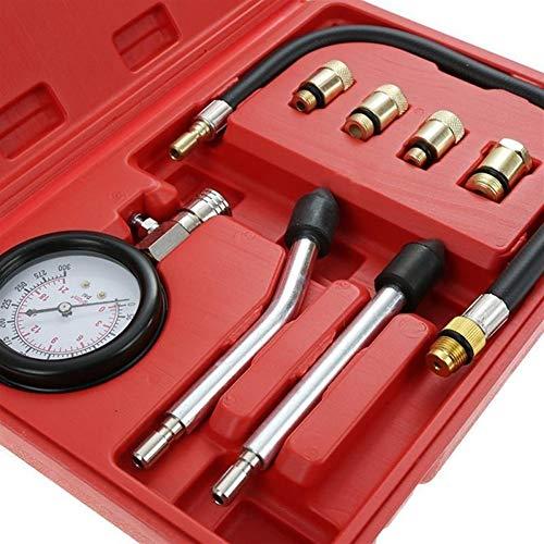 ZHENGZEQU Probador de presión 8PCS Gasolina del Motor de Gas del Cilindro del compresor Indicador de presión de Prueba de medidor de compresión probador de la Salida de diagnóstico