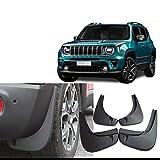 HDWY 4 Pezzi Anteriore Posteriore Auto Parafanghi, per Jeep Renegade 2014-2020 Gomma Paraspruzzi Parafango Accessori