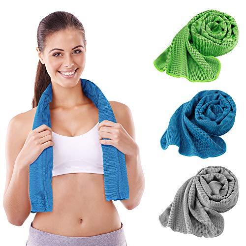 ORLEGOL Mikrofaser Handtücher 3 Stück - Saugfähig, Ultra leicht, Schnelltrocknend, Perfekte Sporthandtücher, Reisehandtücher, Strandhandtuch, Microfiber Towel Ideal für Reisen, Fitness, Yoga, Sauna