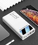 SADSA Batterie Externe 30000mAh Power Bank 4 Sorties USB LED Portable Powerbank USB Type C 30000 mAh Poverbank Batterie Externe pour téléphone Tablette