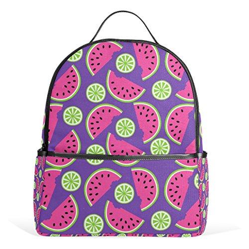 JSTEL Watermelon School Backpacks for Boys Girls Bookbag