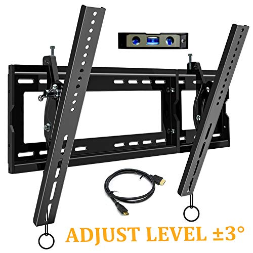 JUSTSTONE Tilting TV Wall Mount Bracket for Most 32-83 Inch TVs for LED OLED Plasma Flat Curved Screen with Low Profile Heavy Duty and ±3° Level Adjustment VESA UP to 600x400mm and Max Holding 165lbs