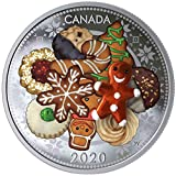 Power Coin Holiday Cookies Kekse Murano Christmas 1 Oz Silber Münze 20$ Canada 2020