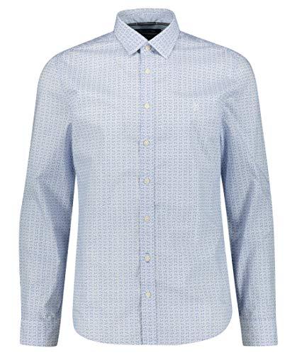Preisvergleich Produktbild Marc O'Polo Herren Hemd Langarm Shaped Fit Blue (82) XXL