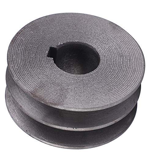 1 Stück Durchmesser 72mm Loch 24mm Stahl Schneidemaschine Teile Riemenscheibe Gusseisen Riemenscheibe Antriebsmotor Rad