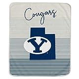 Pegasus Sports NCAA Ultra Fleece State Stripe Blanket- BYU Cougars, Team Color, 60x70